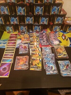 hidden fates charizard gx bundle 84 cards total!!! 70 Gx!! All Mint!!
