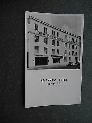 Postcard - SWANSONS HOTEL Jersey C.I.- Real Photo