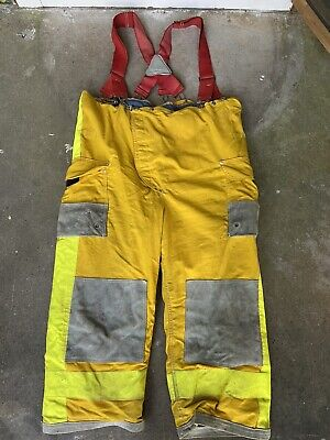 Janesville Lion Firefighter Turnout Gear Bunker Padded Pant Size 44x17 Suspender