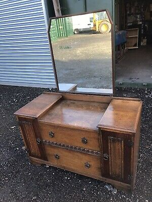 antique dressing table and mirror