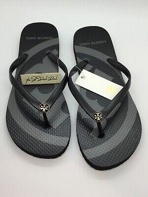 Tory Burch Emory Flip Flop NWT Size 7 Black/Gray