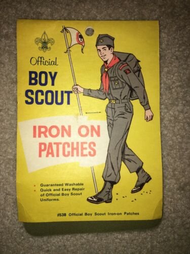 Boy Scout BSA Official Iron on Patches #538 Supply Division Garrison Cap Flag