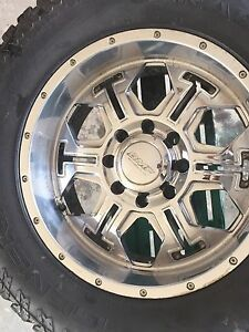 Used  35 x 12.50 R20 General Grabber AT2 on 20x9 BMF rims
