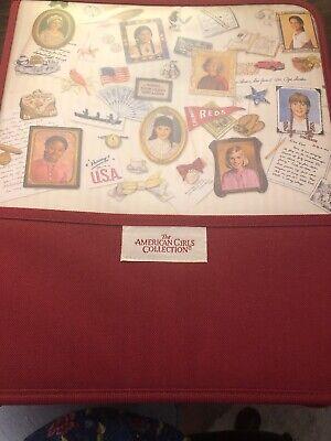 2003 Hallmark American Girl 3 Ring Binder Zip Around School Supplies Dividers