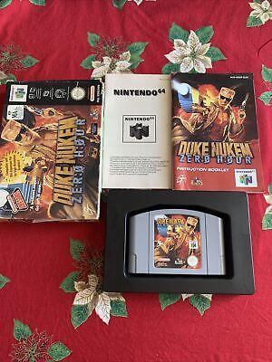 Duke Nukem Zero Hour Nintendo 64 N64 Game BOXED complete! +Manual