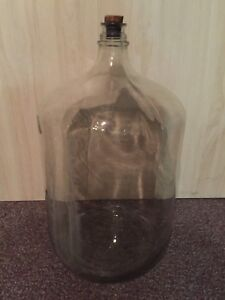 GLASS JUG, DEMIJOHN, CARBOY, 6-1/2 GALLONS