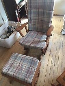 Antique Rocking Chair & stool