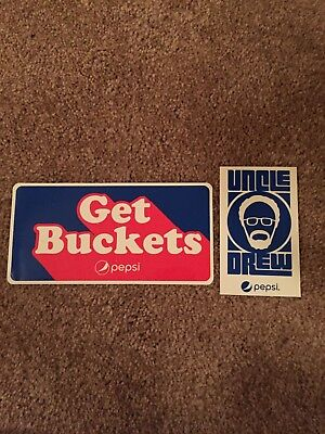 Kyrie Irving Uncle Drew Stickers Get Buckets  Cleveland Cavs Boston Celtics Rare