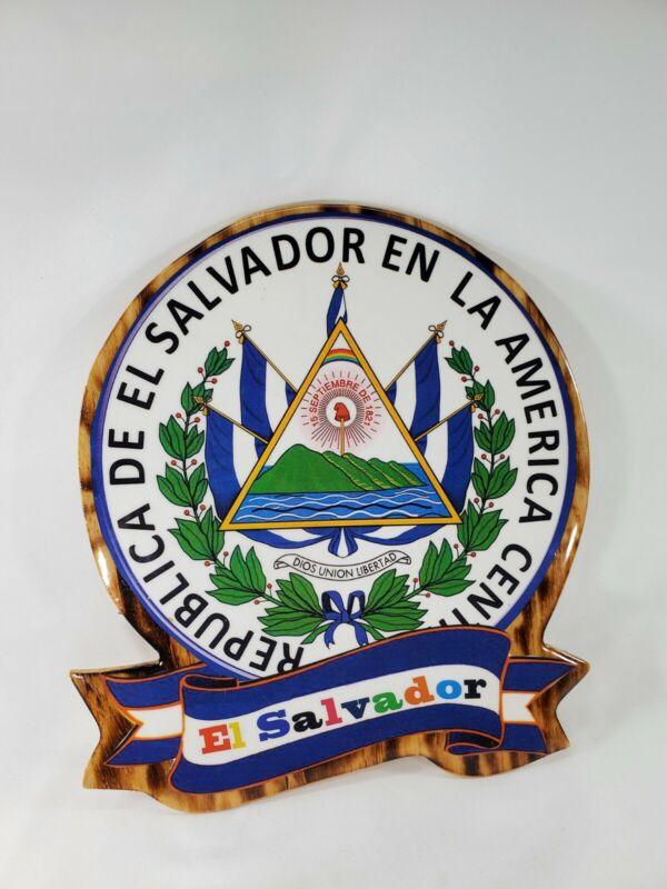 El Salvador National Wooden Shield, Escudo De El Salvador Colgadero de llaves