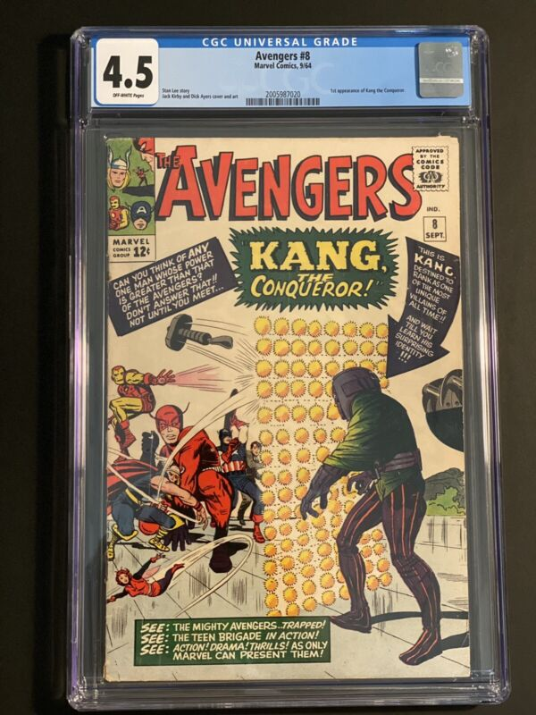 Avengers #8 CGC 4.5 OW 1st Appearance Kang Ant-Man 3 Movie! Hot!