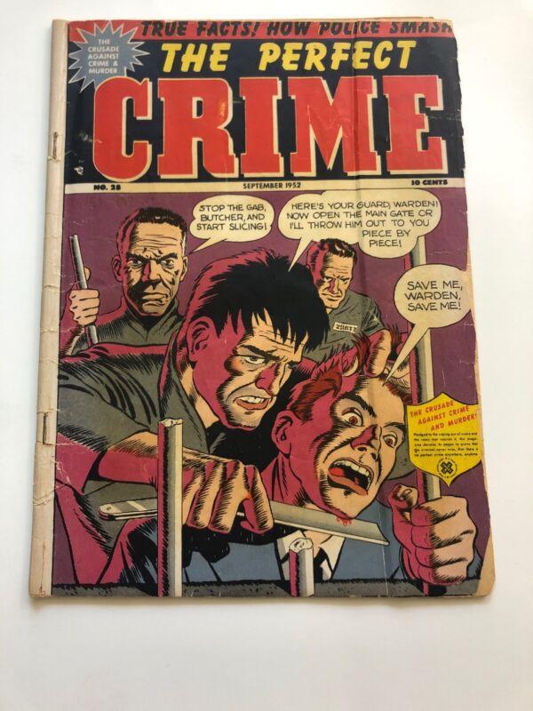 The Perfect Crime #28 Cross 1952 Violent Prison Riot Cover