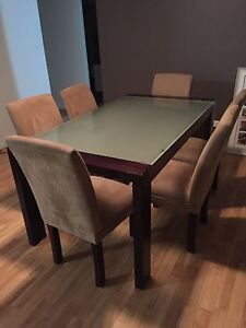Dining table and 6 chairs Coolum Beach Noosa Area Preview