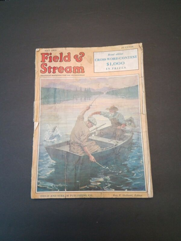 May 1925 Field and Stream Magazine - Kingfish - Boar Hunting
