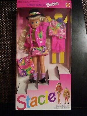 Vintage NIB 1991 STACIE LITTLEST SISTER OF BARBIE DOLL Mattel 4240 NEW IN BOX