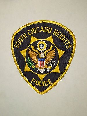 For sale Vintage South Chicago Heights Illinois Police Dept. Embroidered Iron On Patch