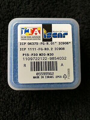 Iscar Icp 04375 Ic908 Carbide Drill Insert 2-bits Sumocham