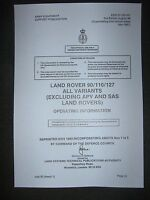 Military Army Land Rover 90 /110 Tum Operating Information Hand Book - land rover - ebay.co.uk