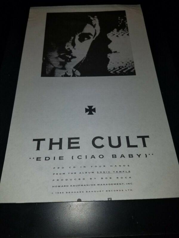 The Cult Edie Ciao Baby Rare Original Radio Promo Poster Ad Framed! #2