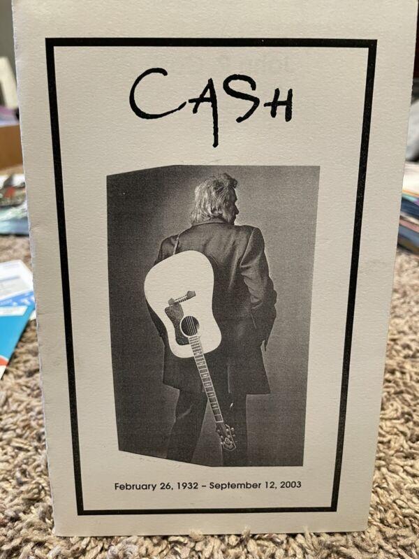 Johnny Cash Original Funeral Service Program MINT Condition