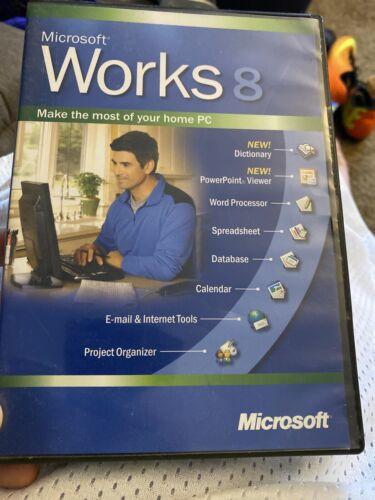 Microsoft Works 8 Ver 8.0 Install Disc CD - 2004 - Windows XP 2000 ME 98 NT - $7.20