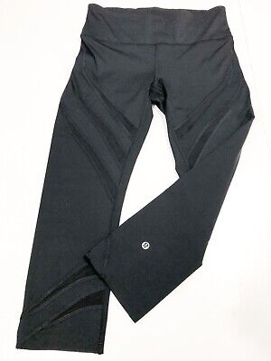 """AUTHENTIC Lululemon Leggings Fast & Free High Rise Crop 26"""" Waist In Back."""