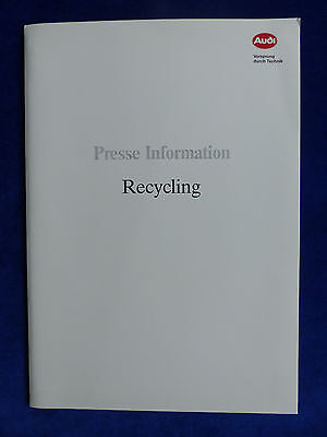 Audi Recycling Altfahrzeuge - Pressemappe press-kit IAA Frankfurt 09.1991
