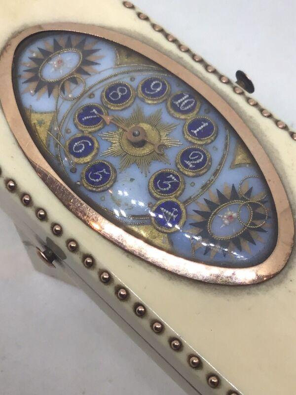c1800 Rare Gold Mounted Novelty Wist Marker Georgian Toothpick Box Case