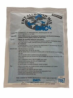 Dac FMT Allround Mix, 100 gr. 5 in 1 for Racing Pigeon
