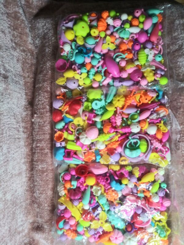 Pop Beads Lot  Pop Beads Snap Together Beads for Girl create jewlery diy sealed