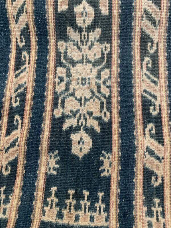 Antique Indonesian Cotton Ikat Savu Shawl Wrap Textile Weaving 1925-1950