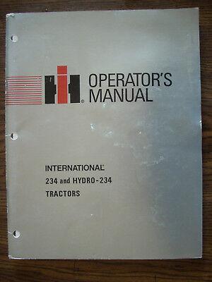 Ih Farmall Mccormick International 234 234 Hydro Owners Manual
