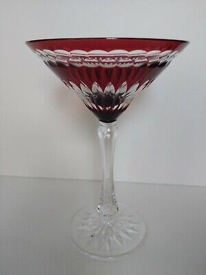 Faberge Na Zdorovye Martini Glasses, Red Cased Crystal Replacement Stamped