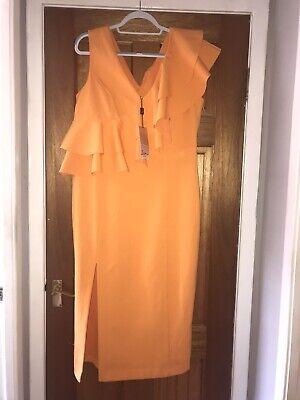 Formal Dress Size 18 Orange In Colour Brand New