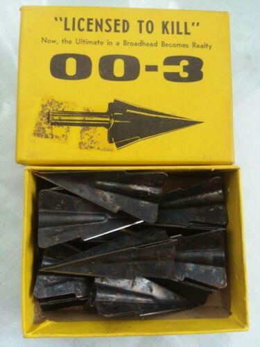One Dozen 003 Broadheads With Blades ~ Archery