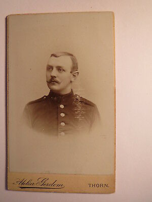 Thorn - Heinrich Heuer ? als Soldat in Uniform - Regiment IR 61 ? / CDV