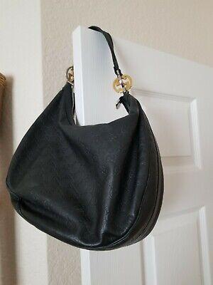 Vintage 100% AUTHENTIC GUCCI Bag Leather Vintage Gucci Black Leather Bag