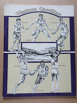 WESTERN CAROLINA 1982 1983 MENS BASKETBALL MEDIA GUIDE YEARBOOK