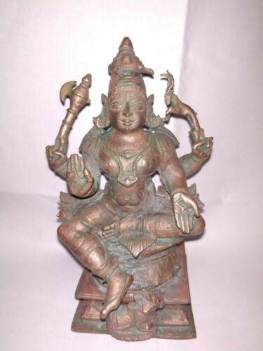 ANTIQUE LOOKING TRADITIONAL INDIAN ETHNIC RITUAL SCULPTURE GOD SHIVA RARE #GA8