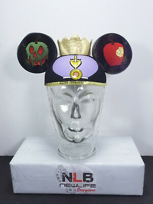 Disney Parks Snow White EVIL QUEEN Crown Poisoned Apple Jeweled Ear Hat Cap