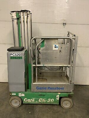 Genie Gr20 20 Electric Runabout Scissor Vertical Mast Drivable Man Lift