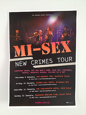 Computer Games - MI-SEX 2014 Queensland Byron Tour Poster A3 Graffiti Crimes Computer Games *NEW*