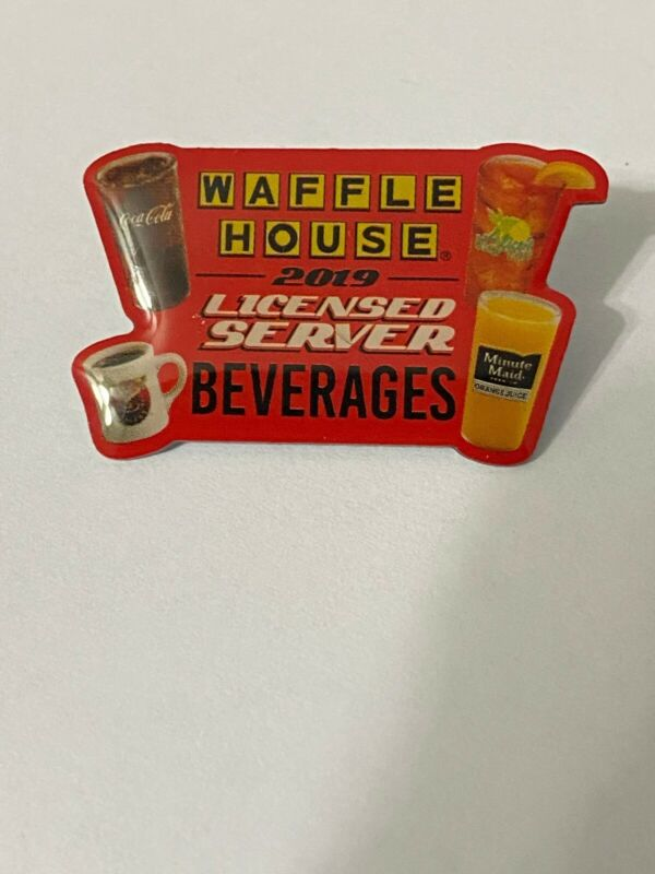 """Waffle House Coca Cola Minute Maid 2019 """"Licensed Server Beverages"""" Pin"""