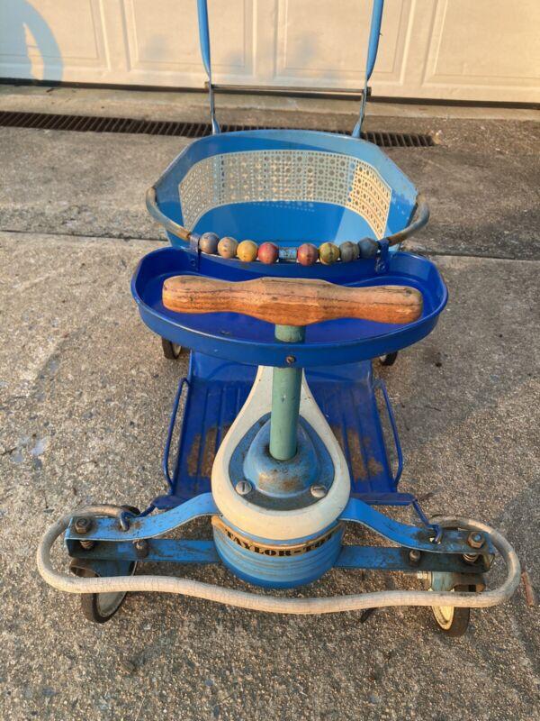 Rare Vintage Taylor Tot Metal Baby Stroller Walker Orginal Blue Two Available