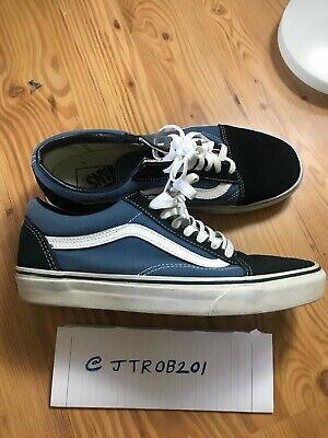 Vans - OLD SKOOL Men's Shoes NAVY BLUE & WHITE SIZE 9