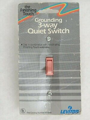 Vintage Leviton No.11453 Pink The Finishing Touch Grounding 3-way Quiet Switch