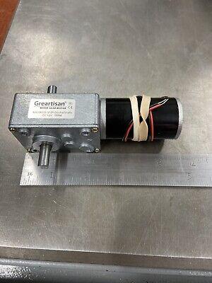 Greartisan Worm Gear Motor 12 Volts 5051 Ratio 2x Ball Bearing Shaft 5 Rpm