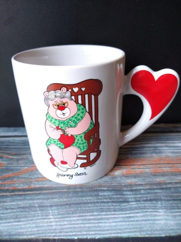 Vintage Granny Bear Coffee Cup Tea Mug 80