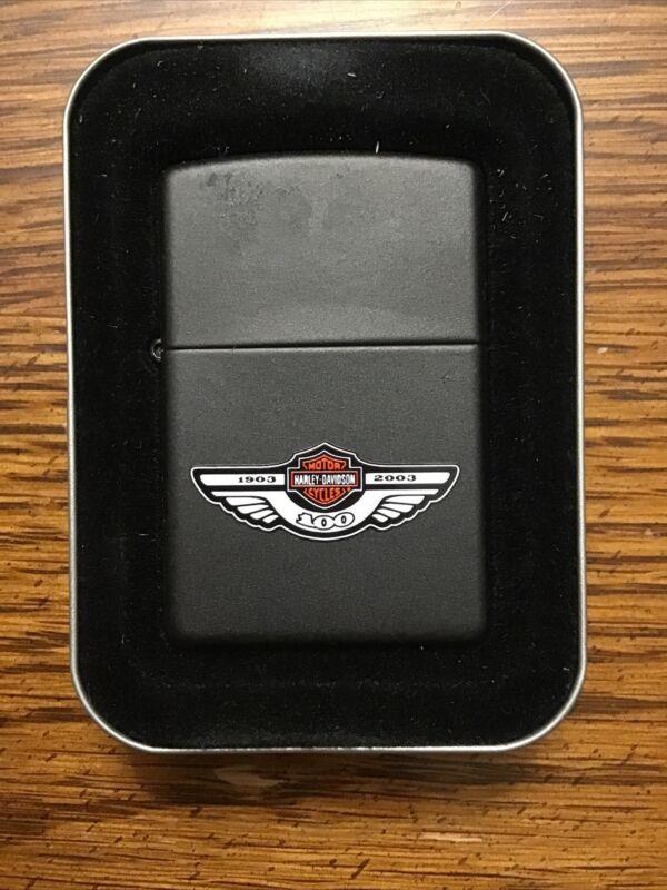 Harley Davidson 100 years Zippo Lighter. NIB