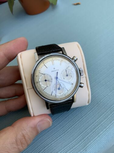 Zenith  Chronograph Vintage Ref. A273 With Original Factory Dial Large 37mm - watch picture 1