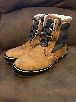 Timberland Men's Lace-Up Spruce Mountain Boots Wheat Full-Grain 6900B Size 7 -